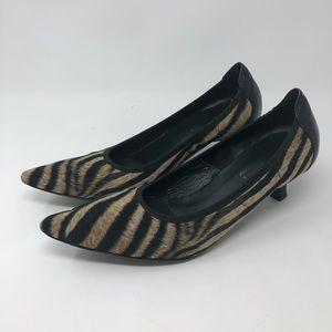 Donald J. Pliner Animal Print Kitten Heels 9.5